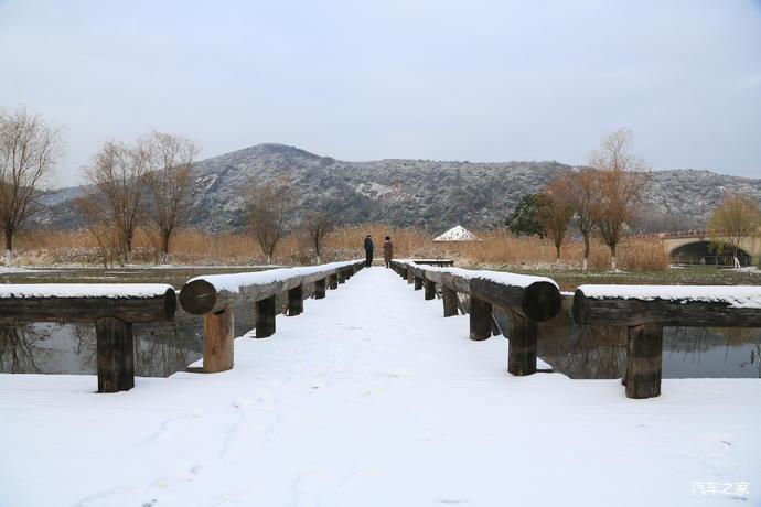 无锡长广溪雪景